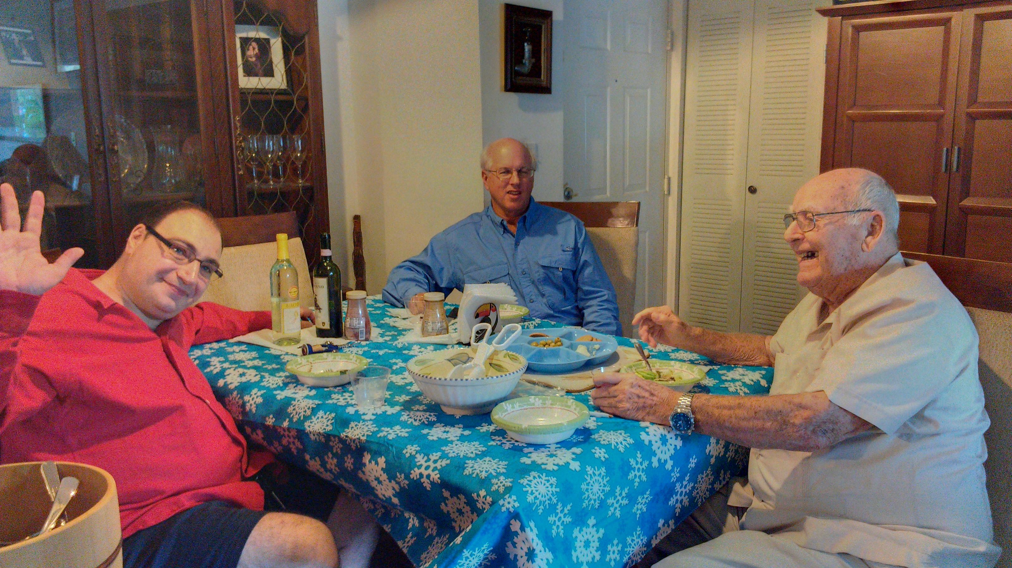 John & amigos durante Thanksgiving.