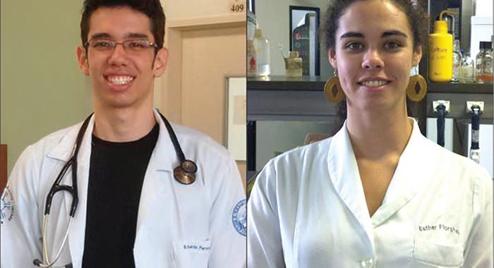 Eduardo Oda e Esther Florsheim, estudantes brasileiros em Yale